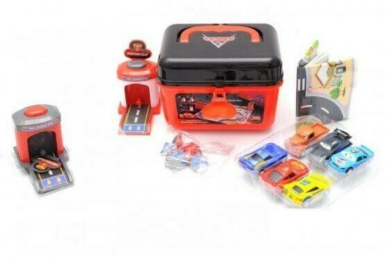 Cars 3!!! Toy Set Box With 2 Launch Towers And 6 Cars