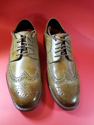 M77063 ROCKPORT STYLE PURPOSE WINGTIP MEN/'S TAN LEATHER OXFORDS