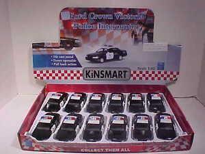 12-Pack-Police-Ford-Crown-Victoria-Interceptor-Die-cast-Car-1-42-Kinsmart-5-inch
