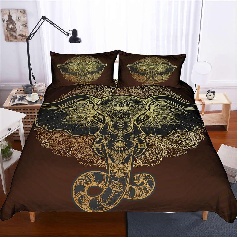 Golden Nose And Big Ears 3D Digital Print Bedding Duvet Quilt Cover Pillowcase