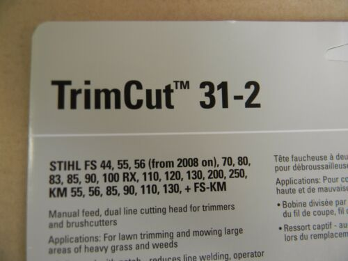 STIHL TRIMMER TRIMCUT 31-2 HEAD FS90 FS110 FS120 FS200 FS250 OTHERS SEE PHOTOS
