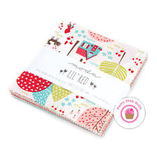 """Moda LIL RED Stacy  Hsu CHARM PACK 42- 5"""" squares LIL RED RIDING HOOD Valentine"""