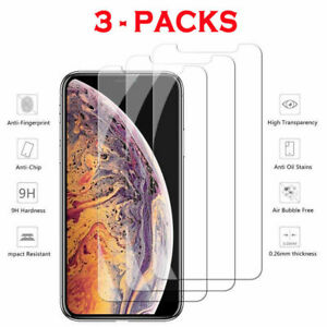 3-Pack-lot-iPhone-6S-7-8-Plus-X-XS-Max-XR-11-PRO-Tempered-GLASS-Screen-Protector