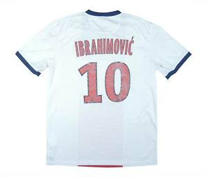 PSG 2013-14 Authentic away shirt IBRAHIMOVIC #10 (bene) M SOCCER JERSEY