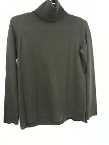 Vince Sweater XS Womens Long Sleeve Turtle Neck Pullover Green Extra Small
