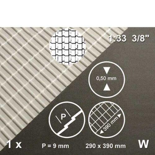 123,34€//m² Frankfurter Pfanne weiß 1:33 Dachziegel Platte 290 x 390 x 0,5 mm