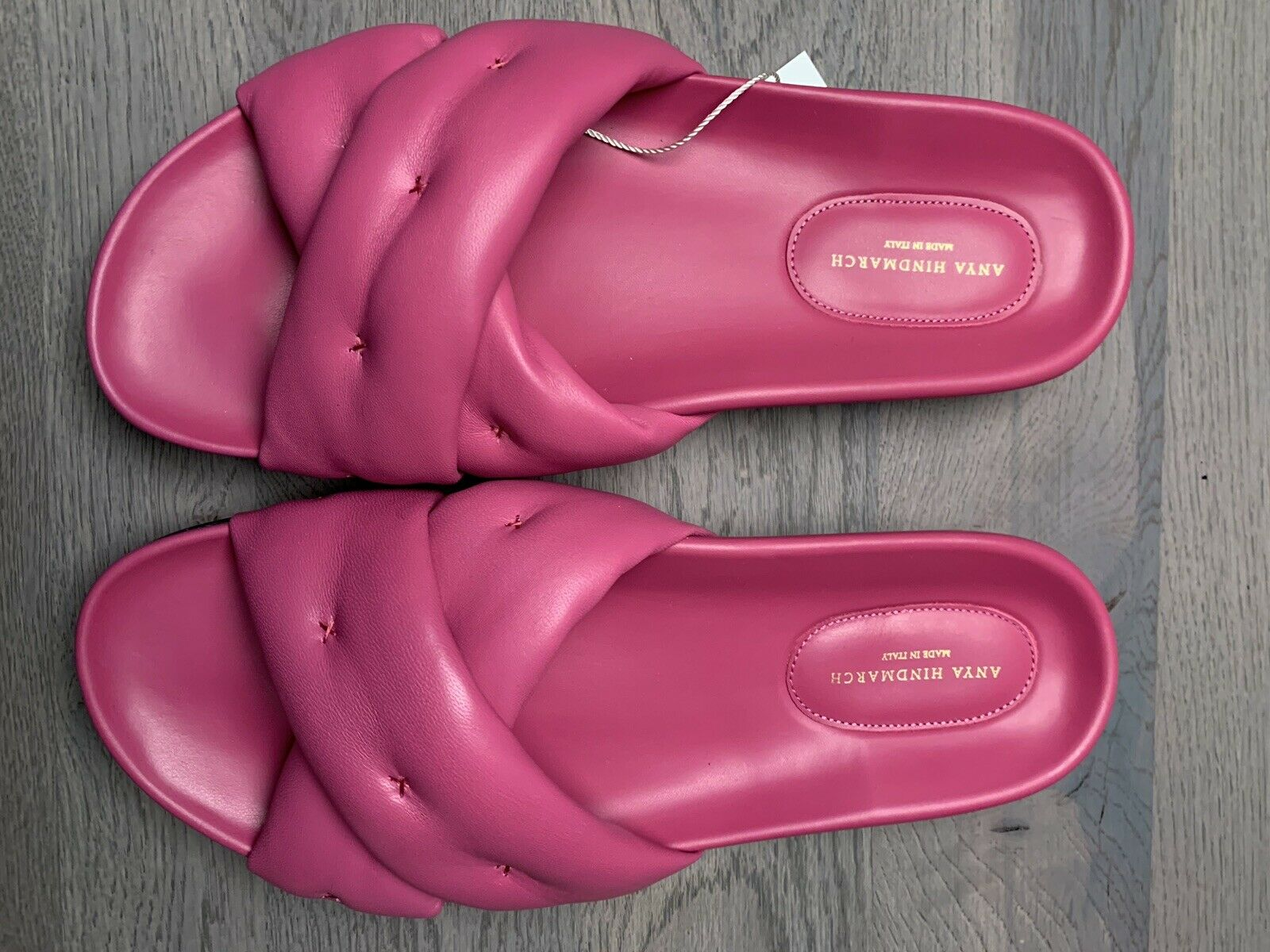 Anya hindmarch Cross -Over Slide Sandals Mules  Flats Scarpe 41  sport caldi