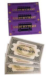 Billete-Anden-9-y-3-4-y-Ticket-Bus-Noctambulo-Harry-potter-opcion-pulsera-snicht