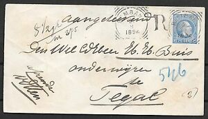 Netherlands Indies covers 1896 imp R-cover REMBAN to Tegal