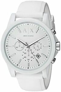883cb51302a0c Armani Exchange Men s AX1325 White Silicone Watch for sale online
