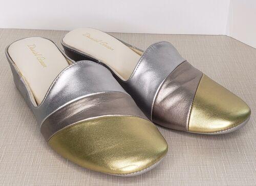 Daniel Green Slides 8.5 Metallic Gold Copper Silve