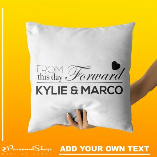 Personalised Cushion Cover Pillowcase Custom Gift Family Name Pillow Case