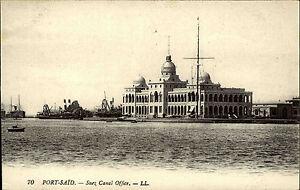 Port-Said-B-r-Sa-d-Agypten-Egypt-Postkarte-AK-1910-Suez-Canal-Office-Sueskanal