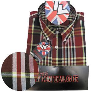 Warrior-UK-England-Button-Down-Shirt-JIMMY-Hemd-Slim-Fit-Skinhead-Mod