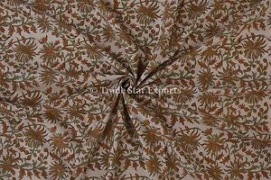 Indian-Block-Print-Running-Fabric-By-Yard-Handmade-Cotton-Voile-Natural-Fabric