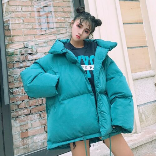 Stand Outwear Puffer Jakke Kvinder Krave Casual Vinter Loose Tykke Oversize Frakke 60xwqYT5q