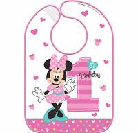 Disney Baby Minnie Mouse 1st Birthday Bib Baby Girl First Birthday Party Supply