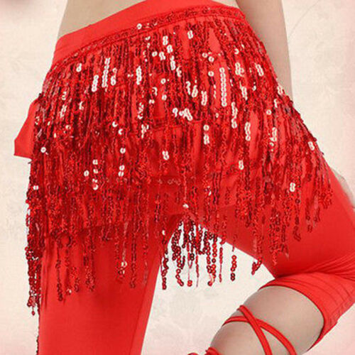 NEW Belly Dance Costume Hip Scarf Sequin Fringe Bollywood Halloween Belt Outfits