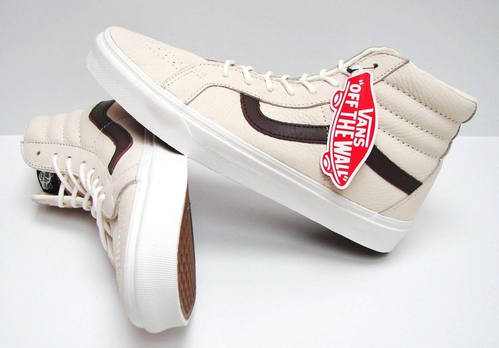 Vans SK8 Hi Reissue Leather white Potting Soil VN0A2XSBLYT Men's Size 13