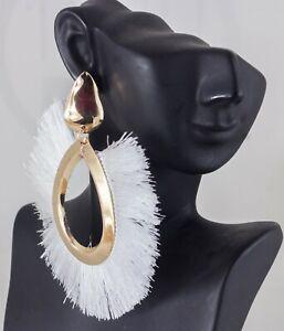 Details zu XXL Ohrringe Böhmische Quaste Drop Ohrringe Mode Frau Ohrstecker