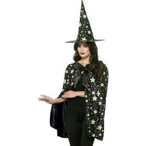 Women s Midnight Night Glow In The Dark Witch Kit Halloween Fancy ... 863fe858d0