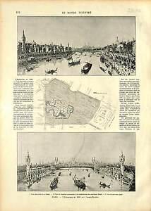 PREPARATION-EXPOSITION-UNIVERSELLE-1900-PONT-ALEXANDRE-III-PARIS-FRANCE-1896