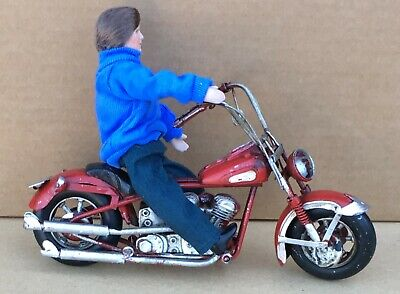 1:12 Scale Red Painted Motorbike Distressed To Look Used Tumdee Dolls House