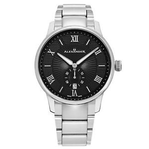 Alexander-Statesman-Regalia-Men-039-s-Stainless-Steel-Swiss-Made-Watch-A102B-02