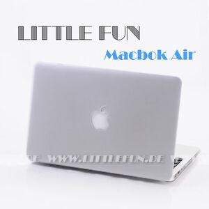 Macbook-Huelle-Hard-Case-mit-Logo-Cover-fuer-Apple-Macbook-Air-11-034-Schutz-Weiss