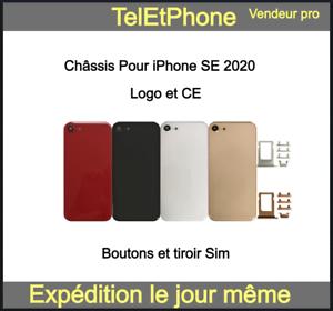 Châssis Arrière Pour Iphone SE 2020 SE2 Coque Vitre Arrière Logo CE