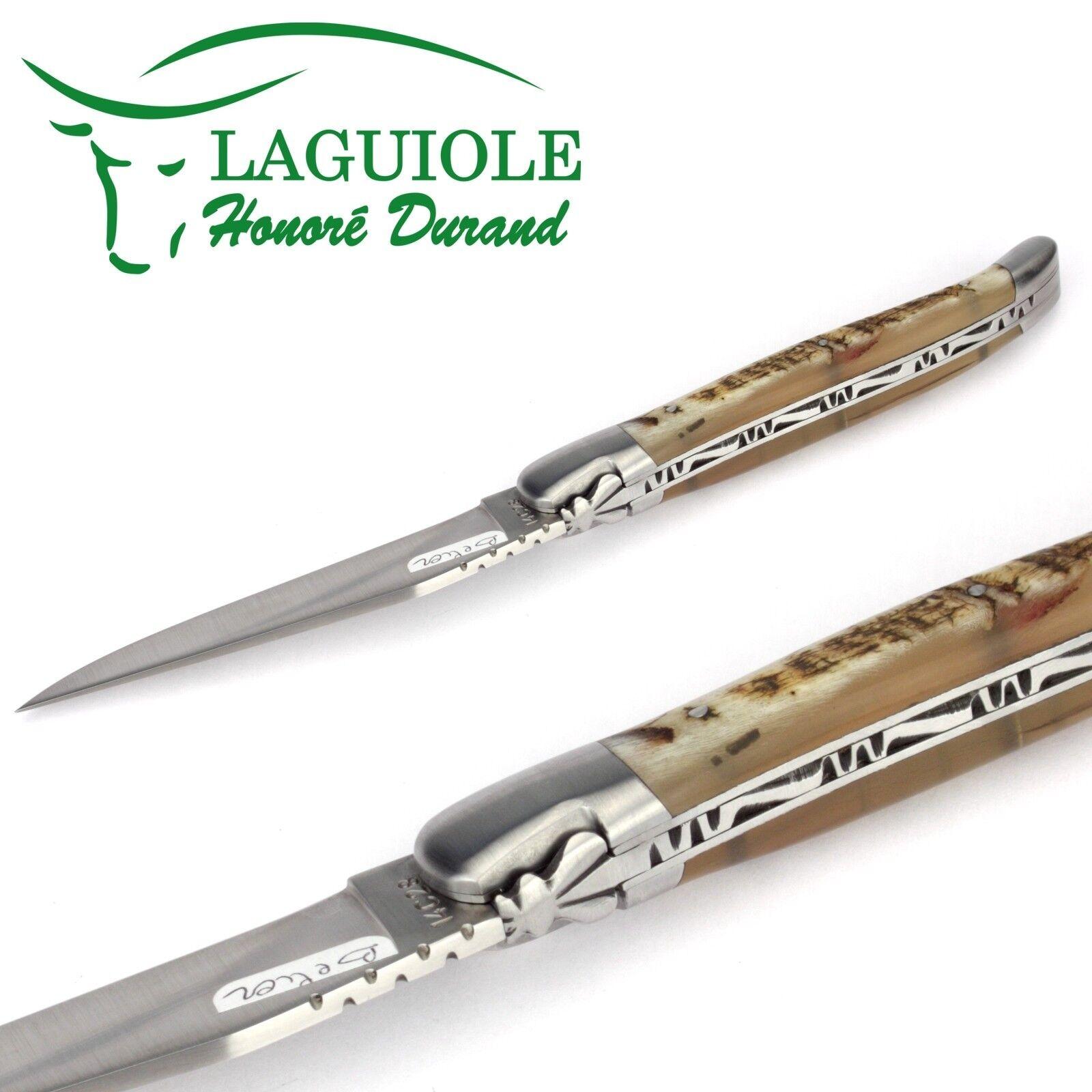 Original Original Original Laguiole Honoré Durand Taschenmesser Widderhorn 12 cm Messer Stahl matt aabe38