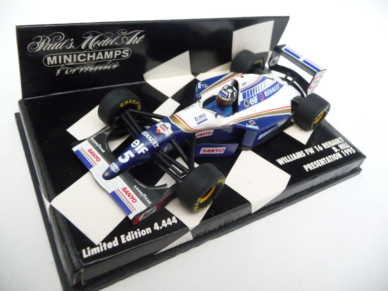 Minichamps 1 43 Williams Renault Renault Renault FW16 Presentation 1995 Damon Hill 950095 707