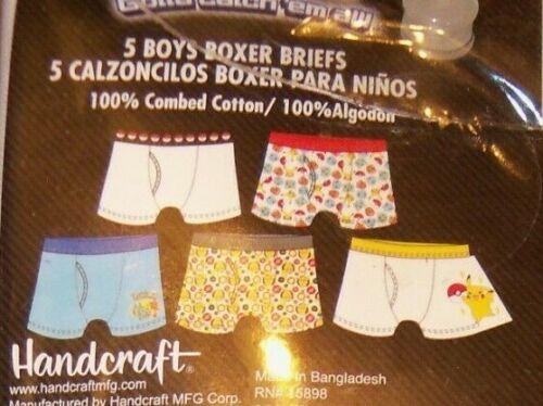 Details about  /POKEMON Pikachu 5 Pack Cotton Boys Boxer Briefs Size 8 NIP