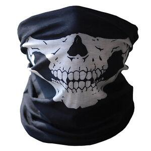 Skull-Half-Face-Bandana-Skeleton-Ski-Motorcycle-Biker-Paintball-Mask-Scarf-KY