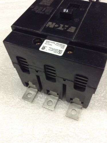 CUTLER HAMMER GHB3015 NEW CIRCUIT BREAKER BOLT-ON 15A 3 POLE 277//480Y VAC