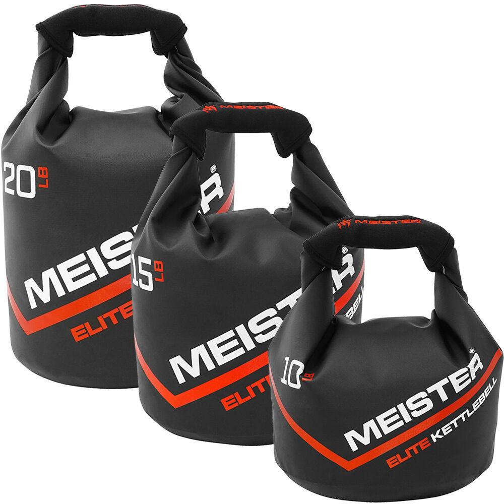MEISTER PORTABLE SAND KETTLEBELL – 10/15/20 LB Elite Weight Sandbag Soft Dumbell