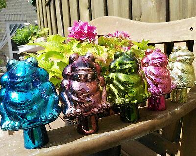 Gelernt Neu Bunte Kugel Rosenkugel Glas Antik Finish Frosch Figur Gartenkugel Garten
