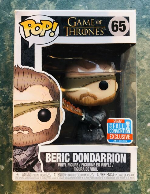 POP FUNKO GAME OF THRONES 65 BERIC DONDARRION FALL CONVENTION EXCLUSIVE 2018