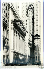 post card . états-unis . New-York . Stock exchange. 1934