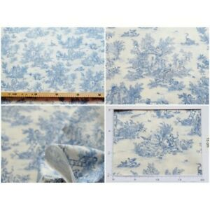 Coupon-fabric-toile-de-jouy-mini-pastoral-small-blue-fd-ivory