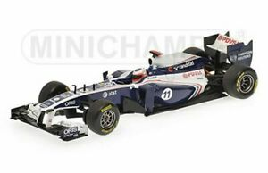 MINICHAMPS-410-110011-120088-WILLIAMS-F1-model-cars-R-Barrichello-Maldonado-1-43