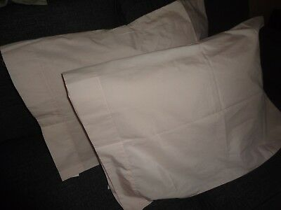 VINTAGE SHOPKO PRETTY PINK (PAIR) STANDARD PILLOWCASES 19 X 29 COTTON BLEND
