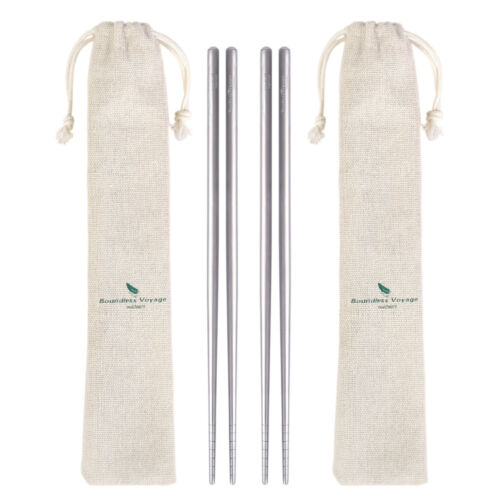 Titanium Chopsticks Reusable Healthy Camping Tableware Japanese Korean 12.5g