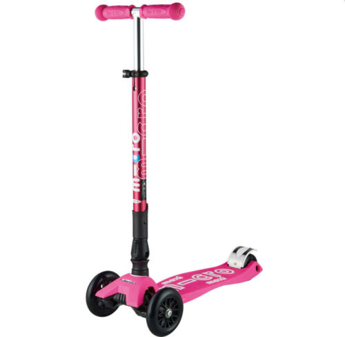 Maxi Micro DELUXE faltbarer Cityroller /&Kickboards 5-12 Jahre shocking pink  Neu