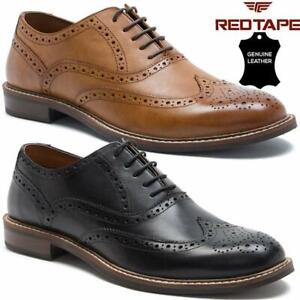 MENS REAL LEATHER LACE UP CASUAL OFFICE