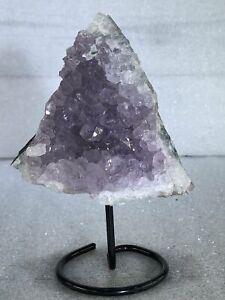 """5"""" Amethyst Cluster Crystal Quartz Natural Stone W/ Stand"""