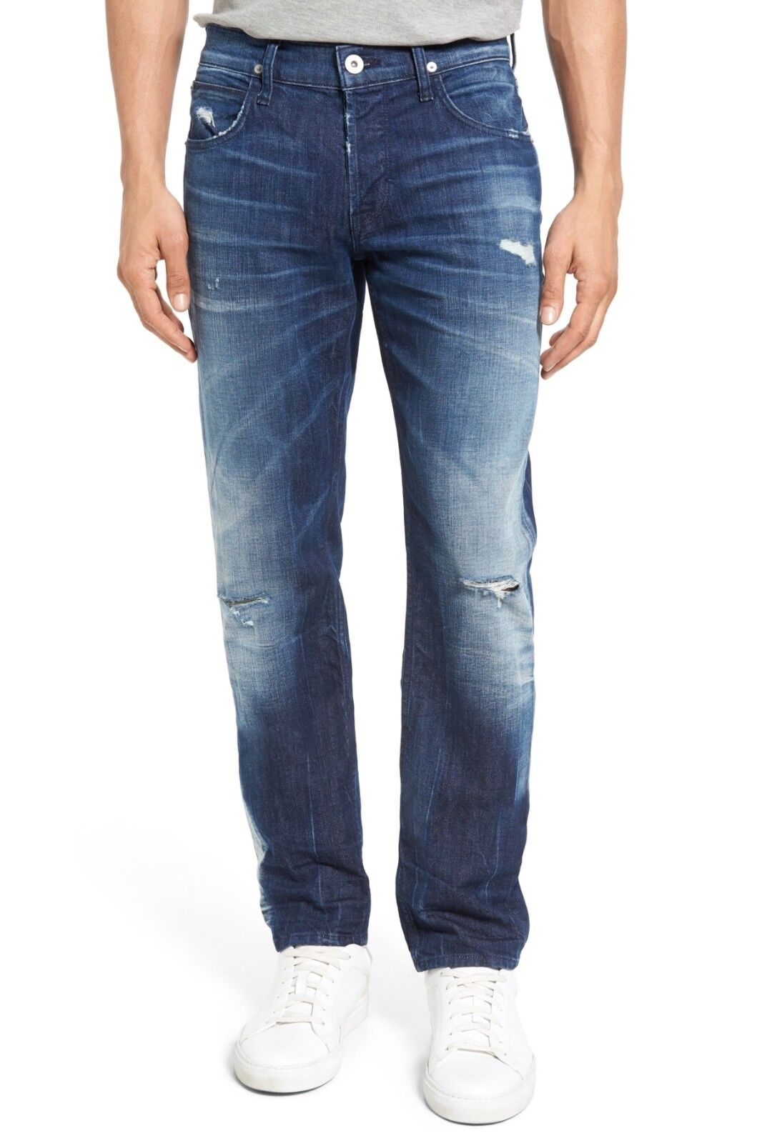 Hudson Mens Blake Slim Straight Vici bluee Jeans Size 34 0322