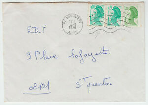 LETTRE-FARGNIERS-POUR-ST-QUENTIN-1986-MARIANNE