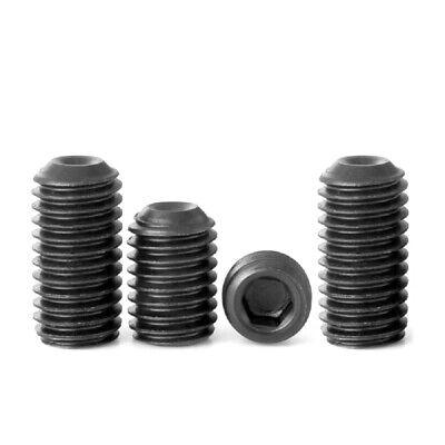"""1//4/""""-20 HIGH TENSILE 12.9 UNC GRUB SCREWS SOCKET SET SCREWS CUP POINT BLACK"""