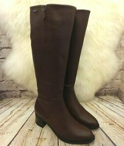 Final empleo juego  Womens Clarks Brooklyn Sky Gore-tex Brown Leather Knee High Boots UK 4 D  EUR 37 | eBay